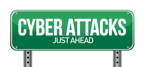 Cyber Attack road sign