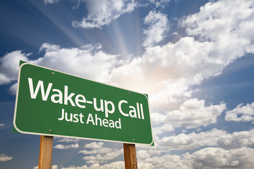 Wake up call sign