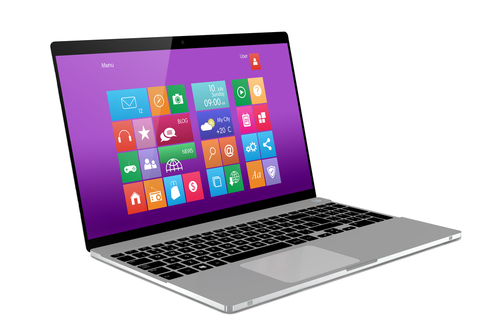 Windows 8 on laptop