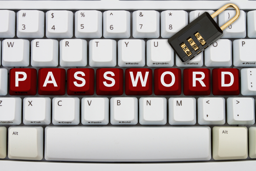 Password on keyboard