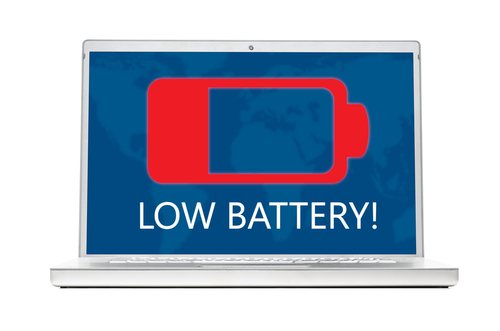 Laptop with low battery