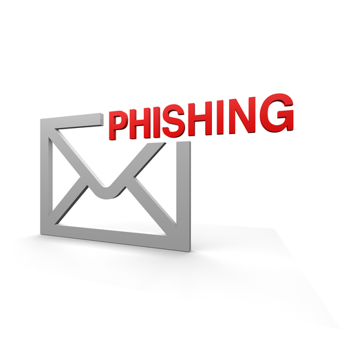 Phishing with email symbol