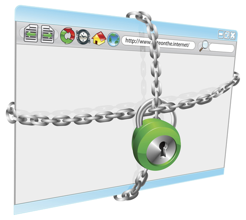 Lock and chain on browser