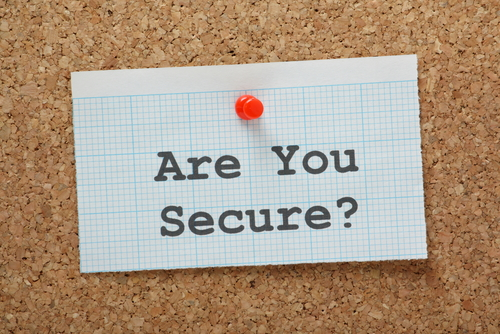 Are You Secure sign